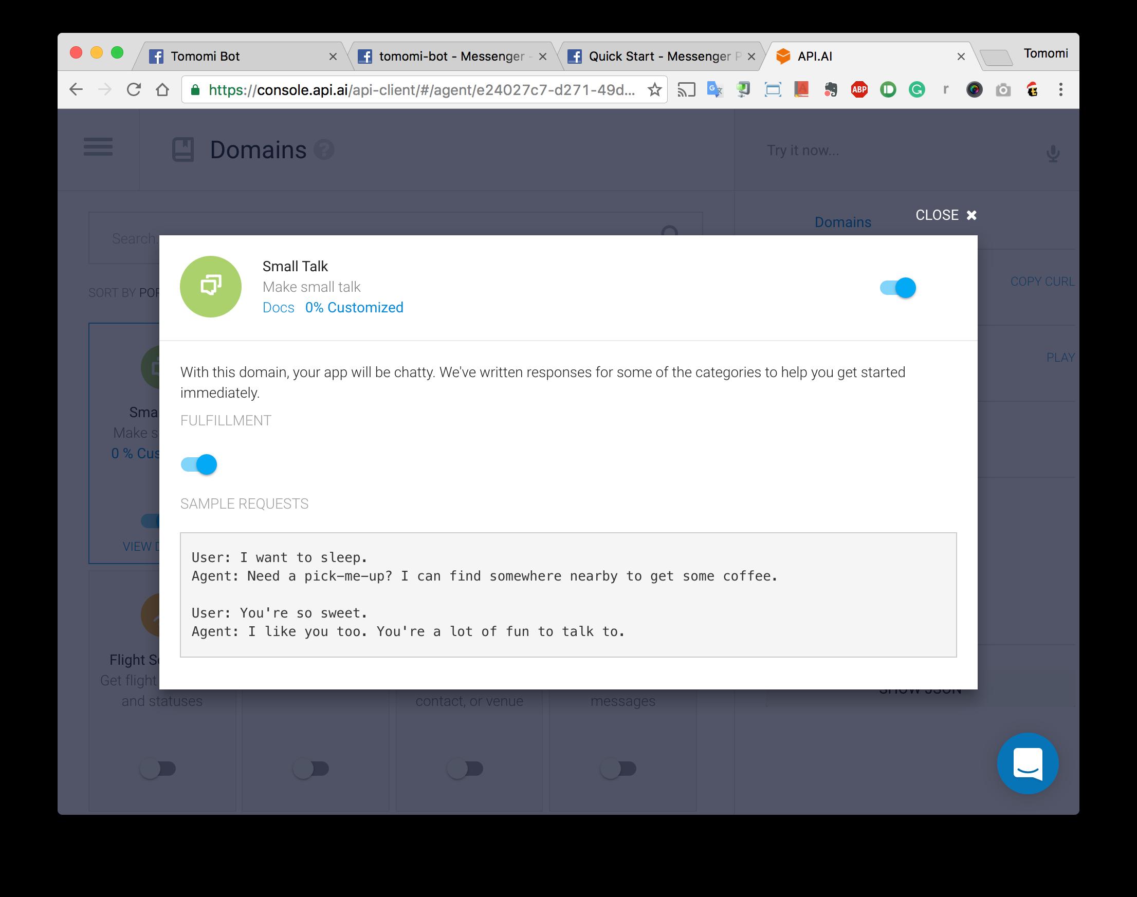 Creating a Simple Facebook Messenger AI Bot with API ai in Node js
