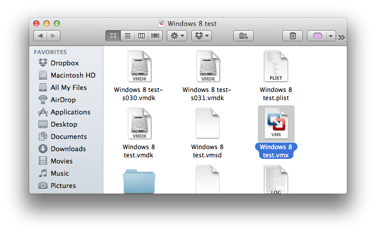 how to get a file on to vmware for mac